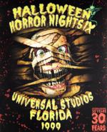 Retro Halloween Horror Nights IX 1999 Mummy Poster