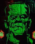 Frankenstein's Face On A Wall
