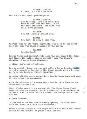 Alternate Ending of Halloween 2018 Script Part 2