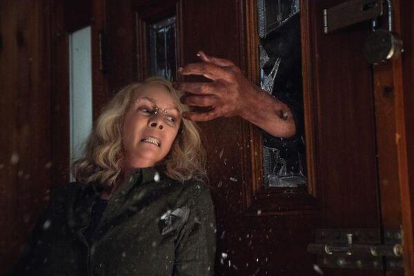 Halloween 2018 - Michael Myers - Laurie Strode - Door