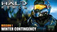 Halo Reach MCC PC Walkthrough - Mission 1 WINTER CONTINGENCY (Sub ITA)-0