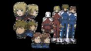 Diseño de Personajes Daisy-023, Ralph-103, y otro no Identificado