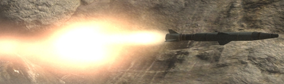 65mm zielsuchende Rakete