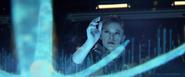Ellen Anders y holograma del arca HW2