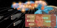 Super-Destructor siendo destruido