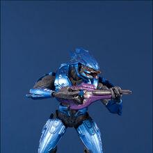 Mcfarlane Halo 3 Series Red Purple Elite Combat Guardian Slayer Figure Complete