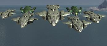 Phantoms y Pelicans de descenso de la Flota de la Retribución