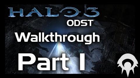 Halo 3- ODST Walkthrough - Part 1 - Tayari Plaza - No Commentary