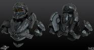 H4 Recon Helmet and torso 3d model