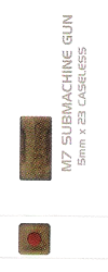 5x23mm hülsenlose Munition