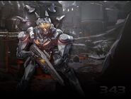 Promethean Soldier With Background