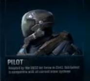 Pilot Helmet Side view