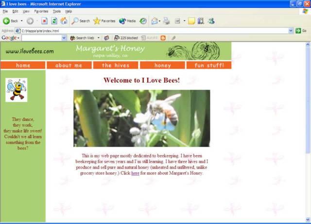 I Love Bees (Página)