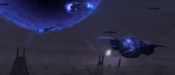 La Flota de la Retribución cruza el Portal hacia la Instalación 00