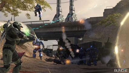 Halo 3 john-117 vs brutes