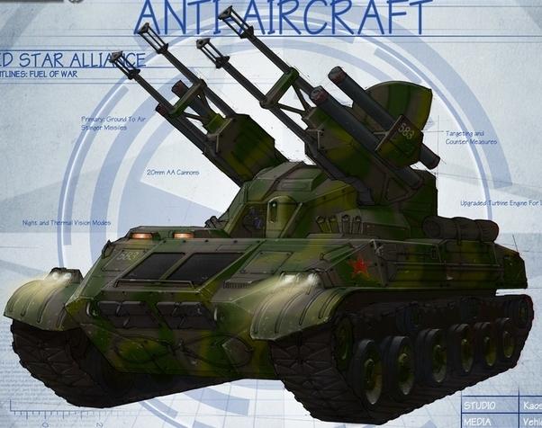 Argenta Self Propelled Hybird Anti Air Artillery Vehicle Model-12
