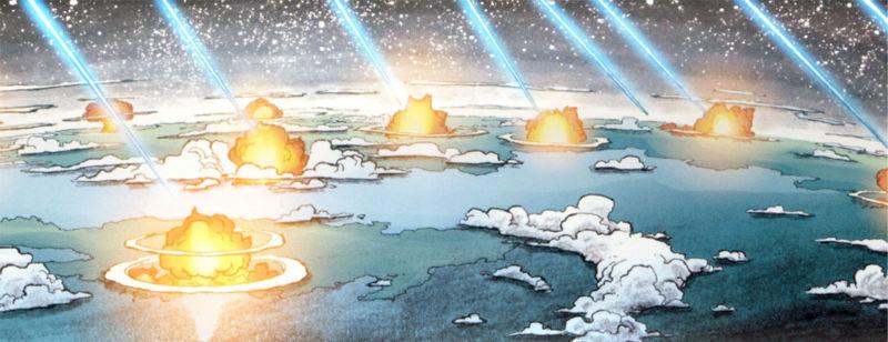 Bombardment at Eternal Sonata