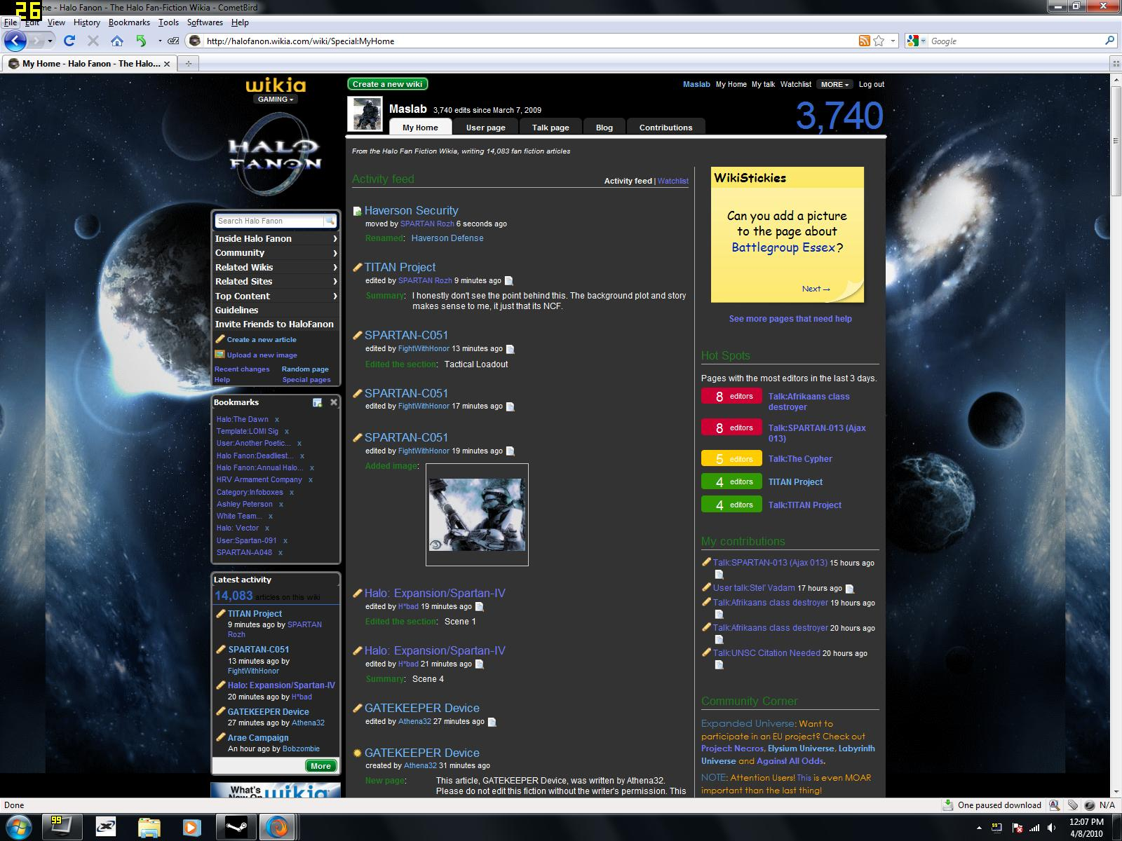 Maslab/Wikia Issue