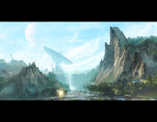 Waterfall valley by wasteland 3d-d49gg0q