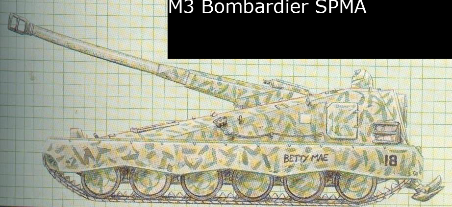 M3 Bombardier Self Propelled Mobile Artillery