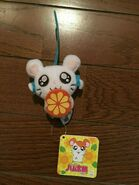 Tottoko Hamtaro Hamutaro Plush Doll Ribbon chan Series holding fruit rare P1