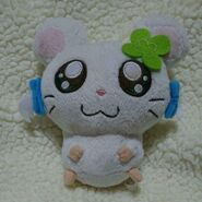 Tottoko Hamtaro Hamutaro Ribbon Chan 14cm Plush Doll Cute face Fluffy material