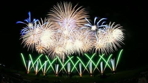 【4K】2014古河花火大会 夜空に輝く雪の結晶【超広角】