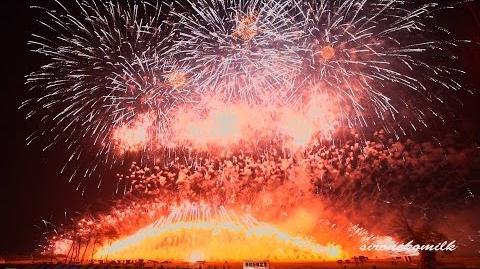ミュージックスターマイン 2014年 長野えびす講花火大会 紅屋青木煙火店 Nagano ebisukou fireworks Music starmine in japan