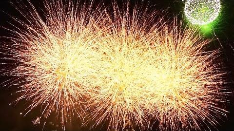 2014 さくら市きつれがわ花火大会【フィナーレUSDスターマイン】[高徳花火工場・木下煙火店]Sakura Kitsuregawa fireworks