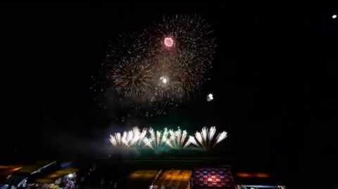 2015 のおがた夏まつり 花火大会 もち吉提供 連発花火