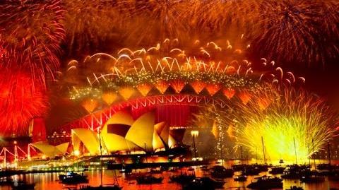 Sydney New Year 2015 (fireworks in full)