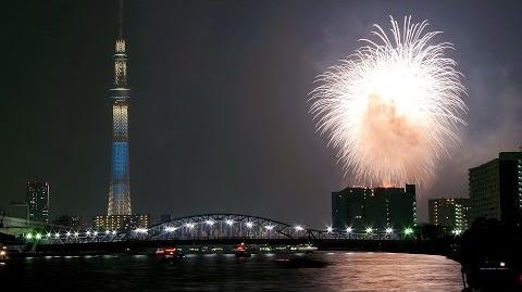 【 隅田川花火大会 2014 ラスト フィナーレ!】 東京スカイツリー ライトアップ Sumida River fireworks
