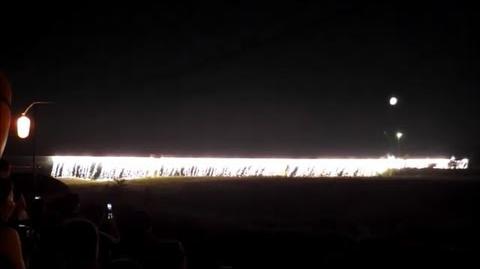 前橋花火大会 Maebashi fireworks display 2013 色が変化する「虹のナイアガラ」