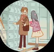 Valentine's School - Akane and his admirer