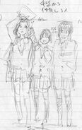Ayano, Erena, Noriko Concept Art 1