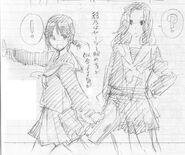 Ayano and Erena Concept Art 1