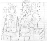 Ayano and Erena Concept Art 2
