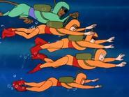 Scooby Gang Underwater