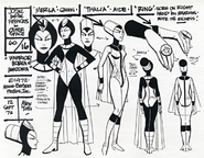Jose and the Pussycats In Outer Space Model Sheet - Warrior Women of Amazonia