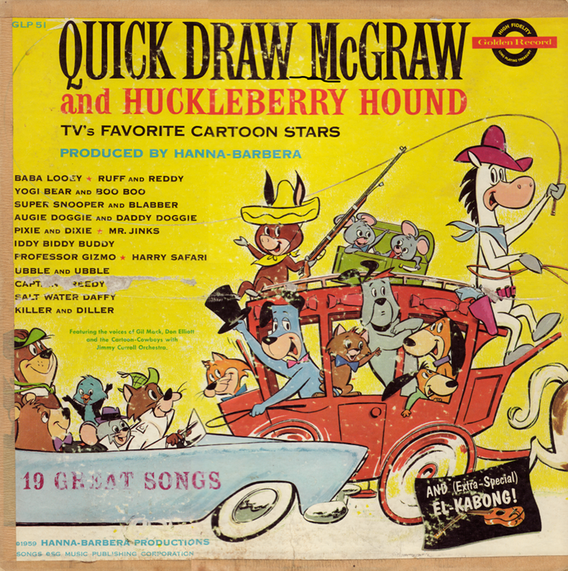 Quick Draw McGraw and Huckleberry Hound - TV's Favorite Cartoon Stars