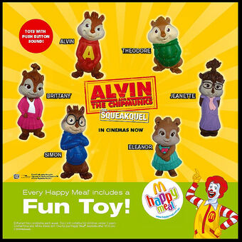 Alvin And The Chipmunks The Squeakquel Mcdonald S 2009 Kids Meal Wiki Fandom