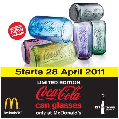 Coca-Cola can glasses (McDonald's Malaysia, 2011)