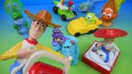 2004 DISNEY PIXAR McDONALDS SET OF 8 HAPPY MEAL KIDS TOYS with WOODY SULLY BUZZ NEMO and MORE