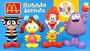 McDonald's 2005 Happy Meal Bobble Head Toys Ronald Hamburglar Birdie & Grimace
