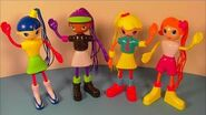 2003 BETTY SPAGHETTY SET OF 4 McDONALD'S HAPPY MEAL KID'S TOY'S VIDEO REVIEW