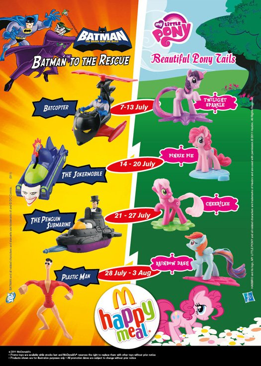 My Little Pony: Beautiful Pony Tails (McDonald's Malaysia, 2011)