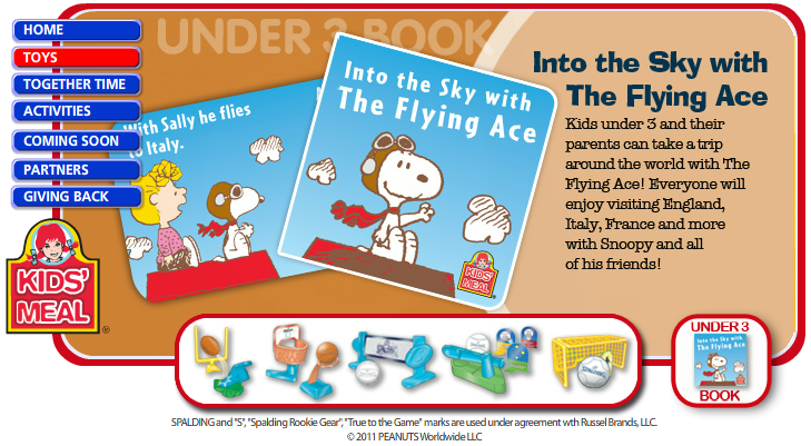 Into the Sky with The Flying Ace (Wendy's, 2011)