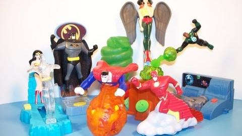 2003_DC_JUSTICE_LEAGUE_ADVENTURES_SET_OF_8_BURGER_KING_KIDS_MEAL_TOYS_VIDEO_REVIEW