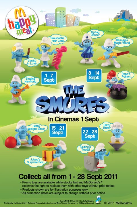 The Smurfs alternate (McDonald's, 2011)