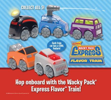 Wacky Pack Express Flavor Train (Sonic, 2008)